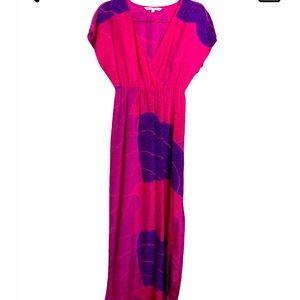 Trina Turk long silk cross front dress size 2